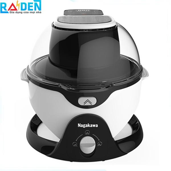 Nồi chiên không dầu 6L Nagakawa NAG3301 tích hợp sẵn 6 chức năng nấu