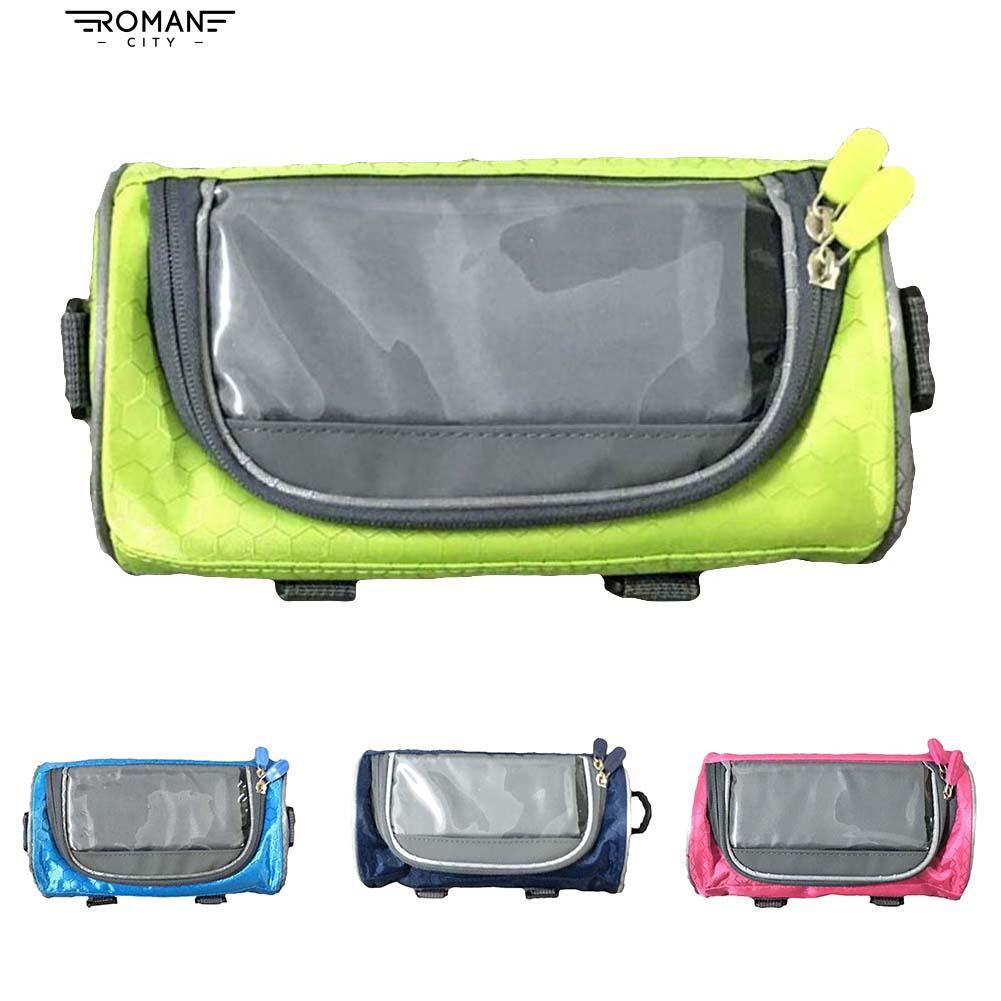 [COD]🎈Transparent mountain bike front tube telephone handlebar bag