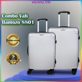 Combo Vali Giá Rẻ Size 20 Inch Và Size 24 Inch Valy Kéo Nhựa Du Lịch Bền Đẹp Cao Cấp Chống Nước Chống Trộm Bamozo 8801 thumbnail