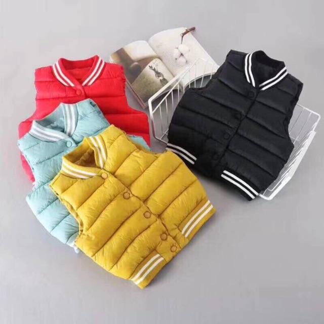 Áo khoác gile phao 4 màu cực đẹp cho bé trai/gái