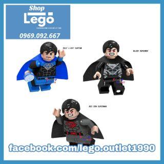 Xếp hình Lego Superman - General Đo - Blue Lantern - Red Son Super man bản đặc biệt Lego Minifigures Lele d006 d003 d007 thumbnail