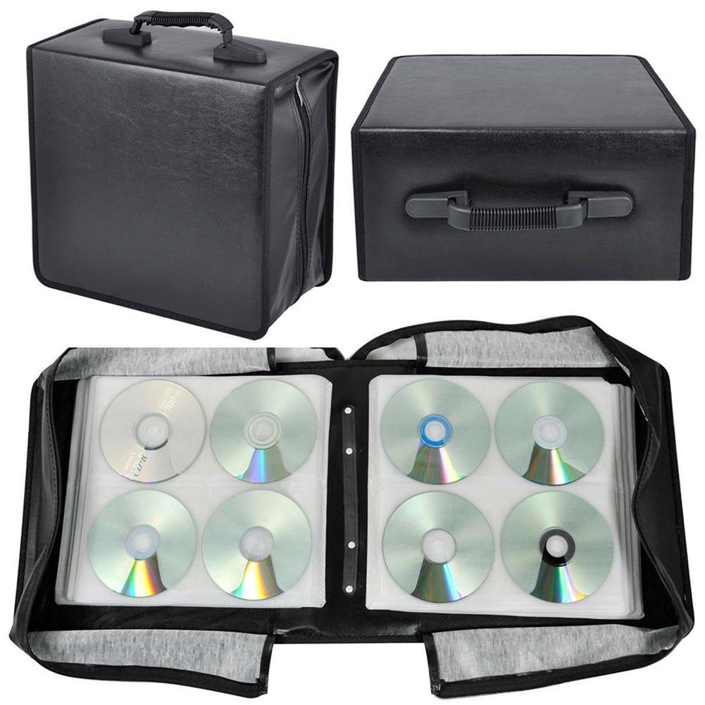 Black Carrying Durable Large Capacity Oxford Cloth Portable Media Storage CD Bag