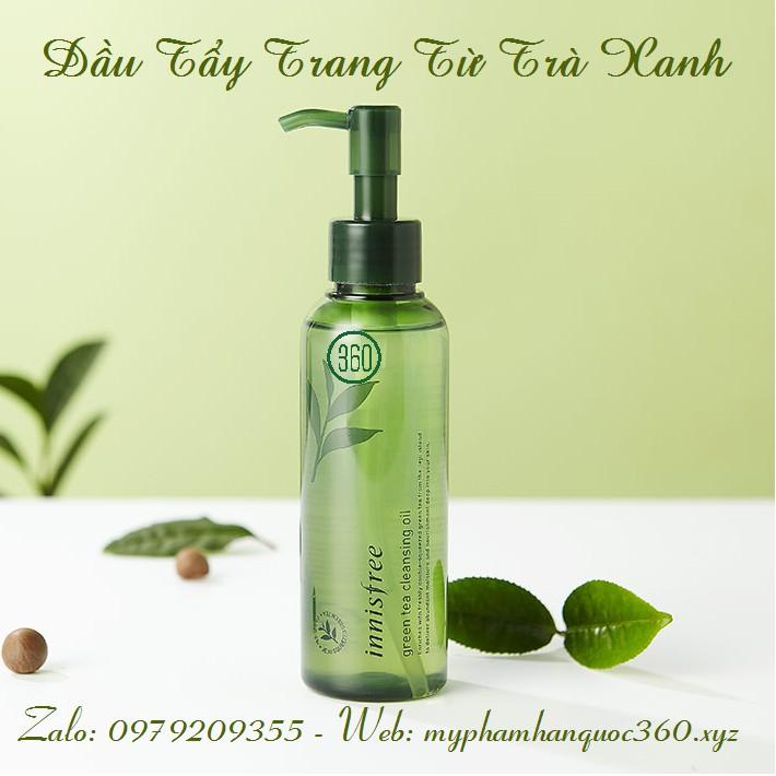 [Mẫu cải tiến 2018] Dầu Tẩy Trang Từ Trà Xanh - Innisfree Green tea cleansing oil 150ml
