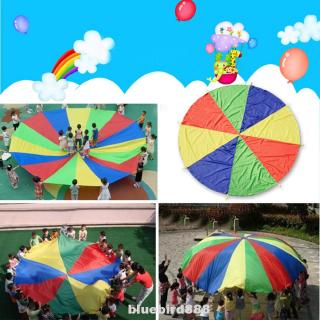 With Handle Attractive Fuuny Rainbow Kids Outdoor Children Parachute
