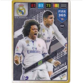 Thẻ Cầu Thủ/Thẻ Bóng Đá Panini FIFA 365 Multiple – Marcelo/Casemiro – Real Madrid