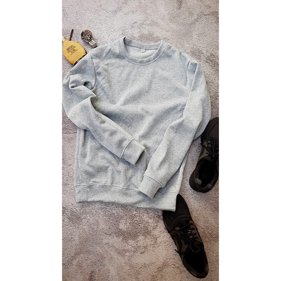 [  SIÊU ƯU ĐÃI ][ DEAL SẬP SÀN ] Áo Sweater nỉ trơn thu đông 3 màu 2019