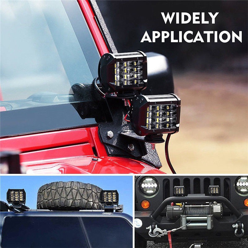 2X 72W IP68 CREE LED Work Light Bar Flood Spot Offroad Truck Fog Driving SUV