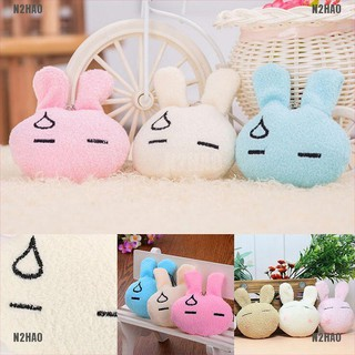 N2HAO 1 Pcs Cartoon Rabbit Decor Baby Cute Bunny Stuffed Plush Kids Toy Color Random