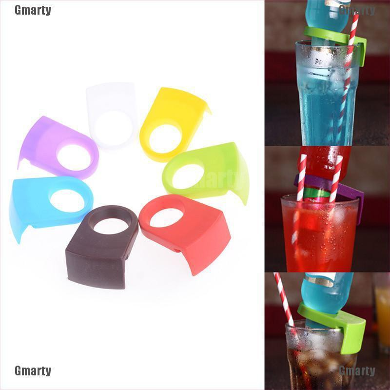 Gmarty 2pcs Beer Bottle Holder Clip Cocktail Glass Cup Goblet Clip Tool Bar Club Supply