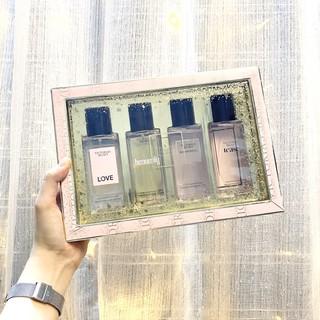 [Bill Mỹ_Có sẵn] Gift set xịt thơm body mist Victoria's Secret 4 chai 75ml