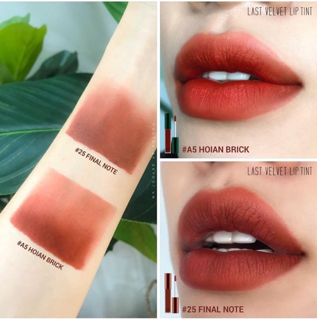 Son Kem Bbia Last Velvet Lip Tint Asia EDiton | Shopee Việt Nam