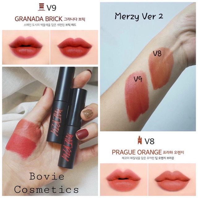 ( Sẵn V8 V9 ) Son kem lì Merzy Another Me The First Velvet Tint