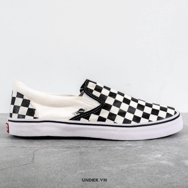 Giày UNDER Slip-on Lười Caro - Giày Sneaker Thể Thao Nam Nữ Cao Cấp