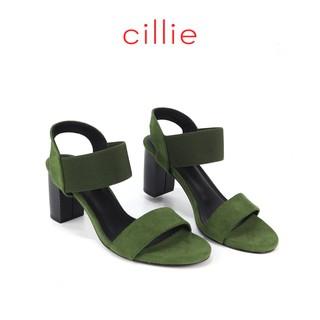 Giày sandal Cillie cao 7cm quai phối thun 1010