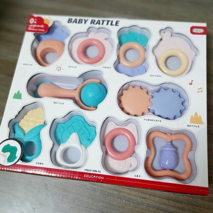 [BÁN VÌ ĐAM MÊ] Đồ chơi Gặm Nướu cho bé sơ sinh-Đồ chơi thông minh giáo dục đầu đời-làm quen...