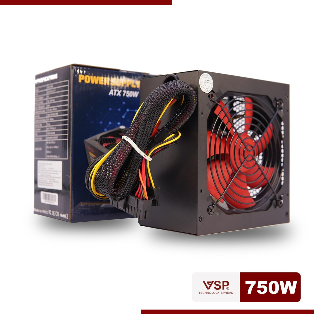 Nguồn Vision 750w fan 12 Box