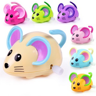 1Pcs Children Chain Toys Baby Cartoon Clockwork Toys Mouse Animal Baby Toys