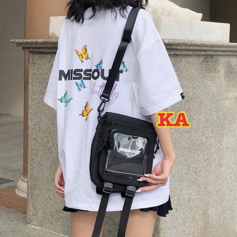 [MÃ KEOS10K3Q GIẢM 20% ĐƠN 200K] Túi đeo chéo  🦋 MISSOUT túi đeo chéo đeo vai cho nam và nữ chất vải Canvas dáng Unisex