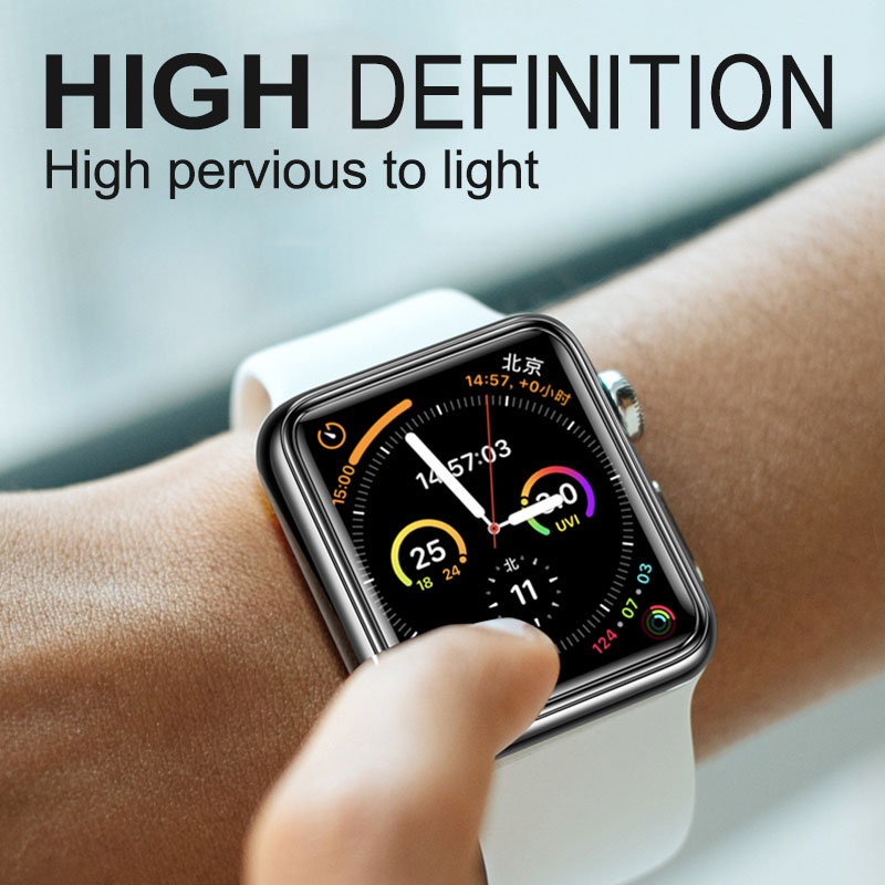 Cường lực Full keo UV dành cho Apple iWatch 5 4 3 2 1 Watch 40MM 44MM 38mm 42mm