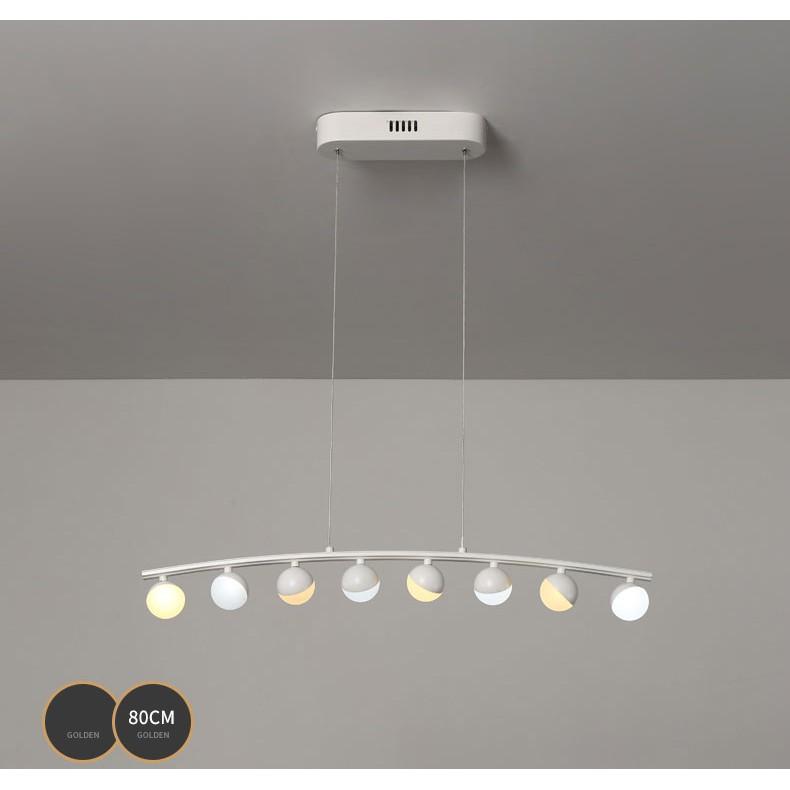 Đèn thả bàn ăn 8 bóng,đèn gắn trần trang trí phòng khách,salon,khách sạn hiện đại