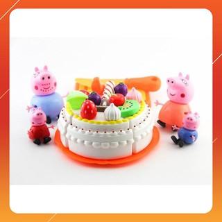 [Ka] Bộ đồ chơi cắt bánh sinh nhật gia đình nhà lợn Peppa Pig