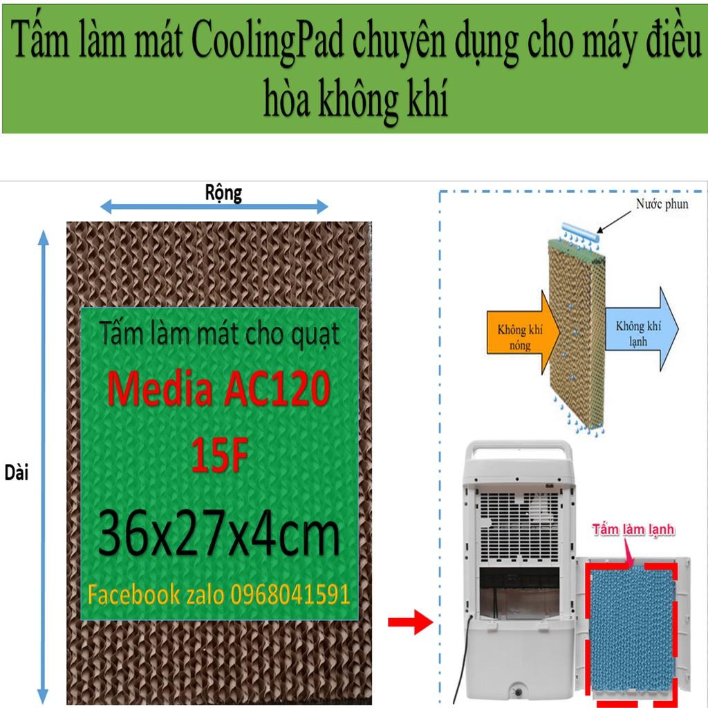 Tấm làm mát cooling pad, tấm làm mát tổ ong 36x27x4cm cho quạt midea ac120 15F