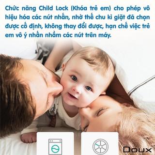 Máy giặt Mini tự động DOUX, có đèn diệt khuẩn UV, có tính năng giặt đồ cho em bé tối ưu