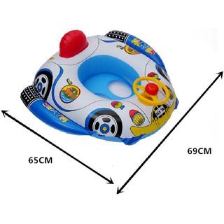 Phao bơi hình ô tô có bánh lái kèm còi cho bé yêu thumbnail