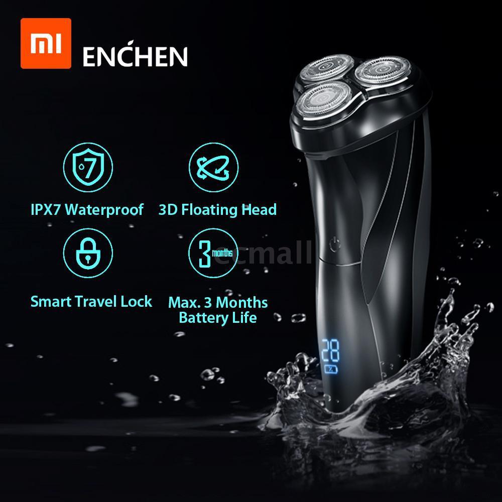 💙Ecmall💙 Máy cạo râu ba lưỡi 3D thương hiệu Xiaomi Enchen BlackStone 3 tiện dụng dành cho nam