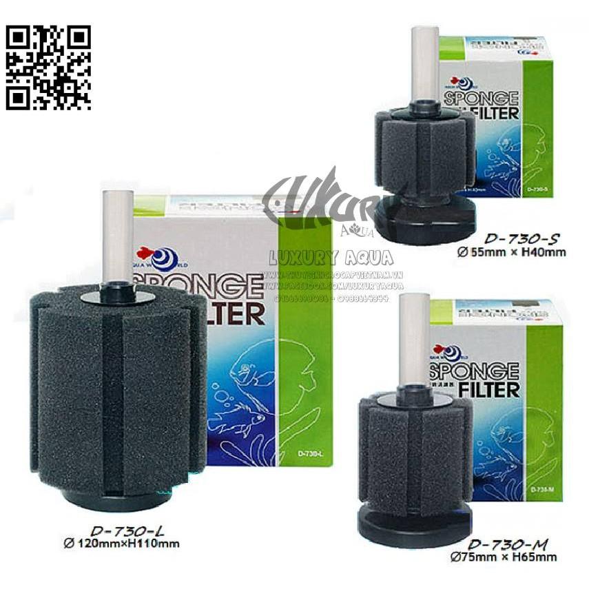 Lọc sủi hơi vi sinh Aqua World D-730-S