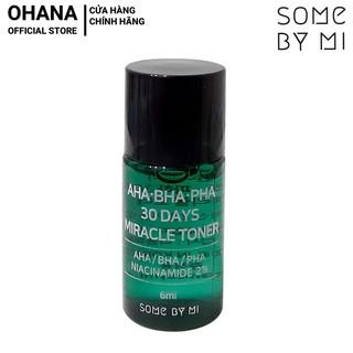 Nước Hoa Hồng Giảm Mụn Some By Mi AHA-BHA-PHA 30 Days Miracle Toner Mini 6ml