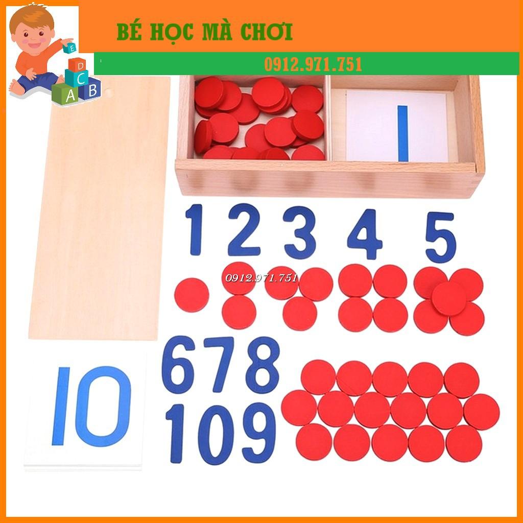 Giáo cụ Montessori – Thẻ số và đếm số