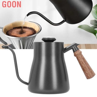 CANCA 304 Stainless Steel Gooseneck Drip Kettle Spout Coffee Pot with Wooden Handle