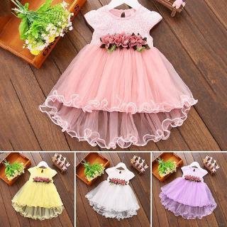 Đầm cotton sát nách in họa tiết hoa xinh xắn dành cho bé gái