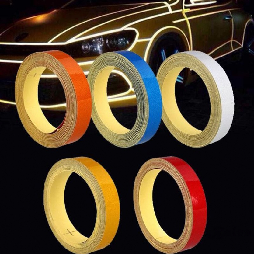 Bales Car Auto Reflective Strip Safety Warning Conspicuity Tape Sticker 1CM 5M X