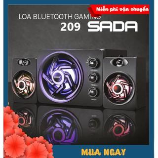 Loa Vi Tính Bluetooth SADA 209 SUPER BASS PRO 2020 Nâng Cấp Từ 2GOOD Nghe Nhạc, Chơi Game, Xem Phim