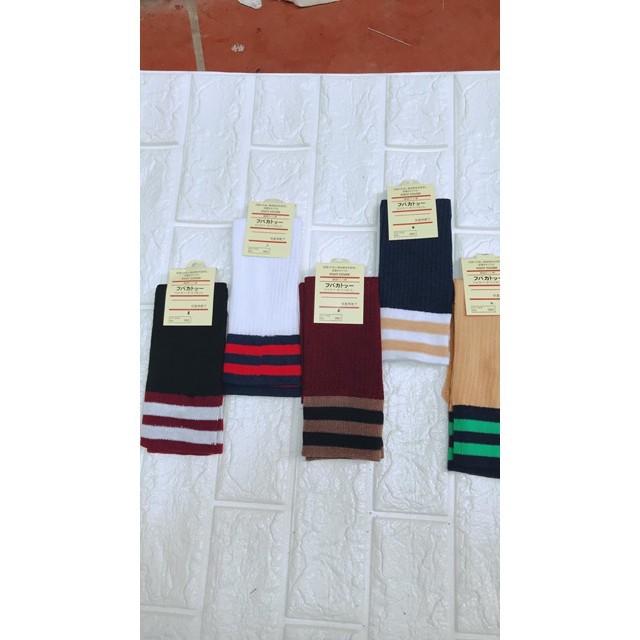 Combo 5 đôi tất cổ cao phong cách Hàn Quốc cho bé