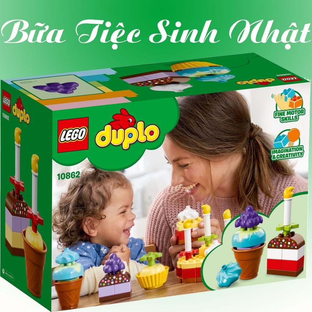 Đồ Chơi Xếp Hình Bánh Kem Sinh Nhật Đầu Tiên Của Bé LEGO Duplo 10862 Chính Hãng Đan Mạch
