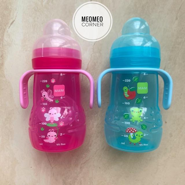 Bình sữa bình 2 trong 1 tập uống nước MAM cho bé từ 4 tháng