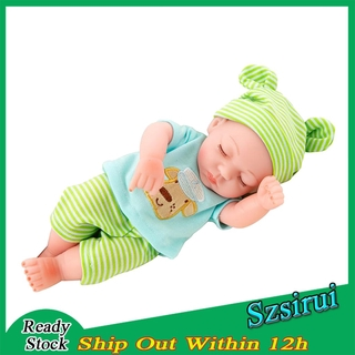 [Ready Stock] 10 inch Real Lifelike Reborn Boy Doll Silicone Newborn Baby Dolls Boy