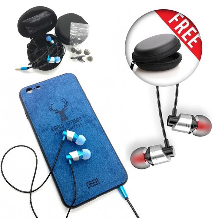 Tai nghe nhét tai cao cấp L2 có mic, dây siêu bền, tặng hộp đựng + nút tai