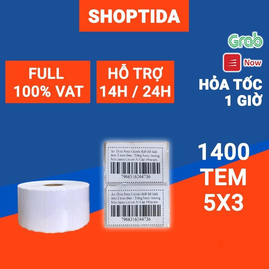 Tem in nhiệt Shoptida 50 30mm loại 1400 tem in minicode, thông tin sản phẩm, sử dụng cho máy in nhiệt Shoptida SP46 thumbnail