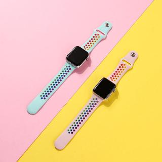 Dây Đeo Thoáng Khí Màu Cầu Vồng Cho Apple Watch Series 5 / 4 / 3 / 2 / 1 (42Mm / 38mm / 40mm / 44mm)