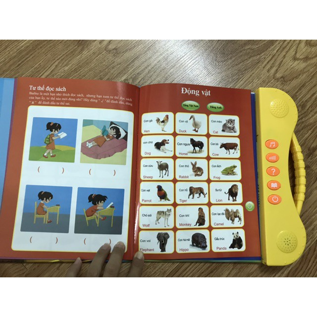 [Giảm 9k cho đơn từ 99k] Sách điện tử song ngữ anh việt cho trẻ em tặng kèm 1 set...