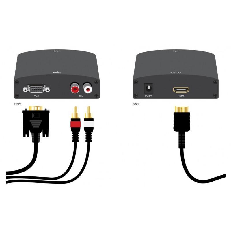 Bộ chuyển đổi tín hiệu từ VGA sang HDMI loại tốt Giá chỉ 225.000₫