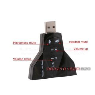 [Mã ELORDER5 giảm 10K đơn 20K] USB SOUND âm thanh hổ trở 2 cổng tai nghe 2 cổng mic tự nhận driver
