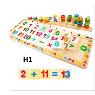Bộ học toán, tăng cường trí thông minh cho trẻ theo phương pháp Montessori (Gỗ an toàn)