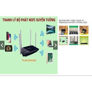 Bộ Phát WiFi 4 Râu Tplink TL-WDR3320 Xuyên Tường 2 băng tần