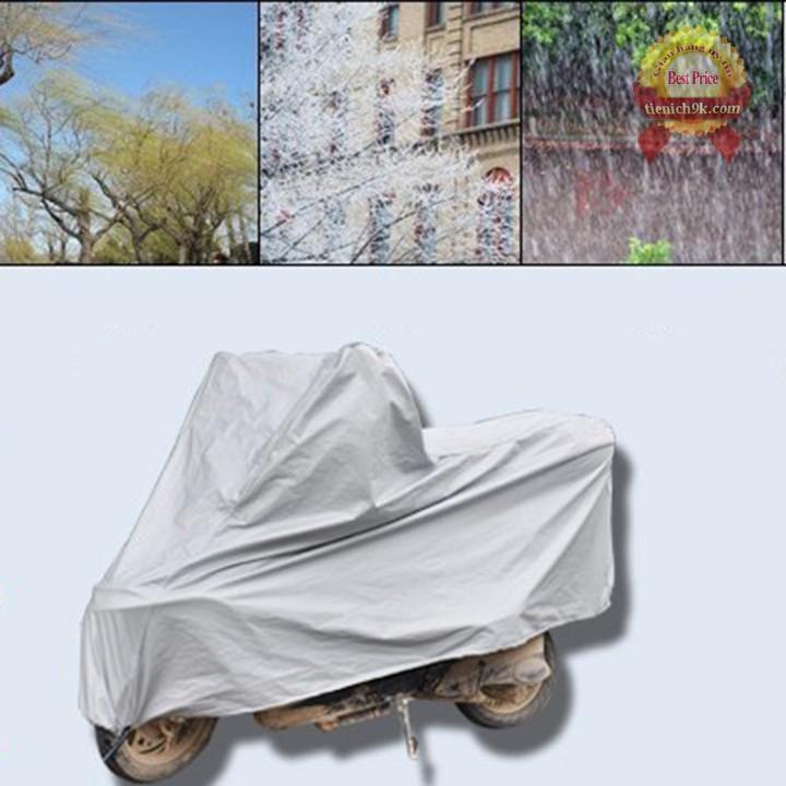 Bạt phủ trùm xe máy - tấm lót phản quang yên xe máy chống nắng nóng mưa