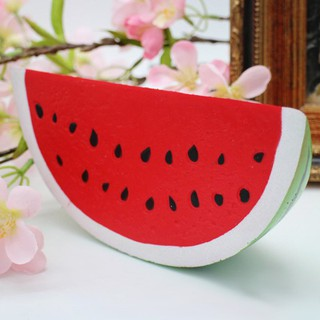 Slow Rising Fruit Toys Squishy Watermelon Style:Green rind & red sarcocarp